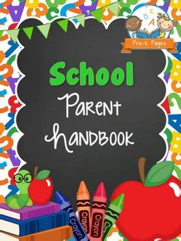 family day care parent handbook template school theme parent handbook pre k pages