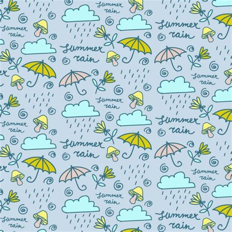 hand drawn wallpaper hand drawn rain wallpaper vector free download