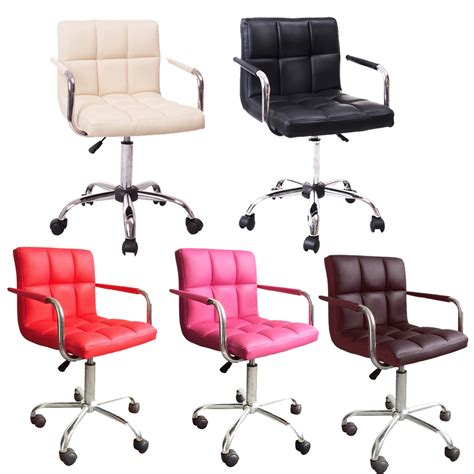 Kitchen Swivel Chairs Btm Faux Leather Office Chairs Pu Swivel Bar Stools