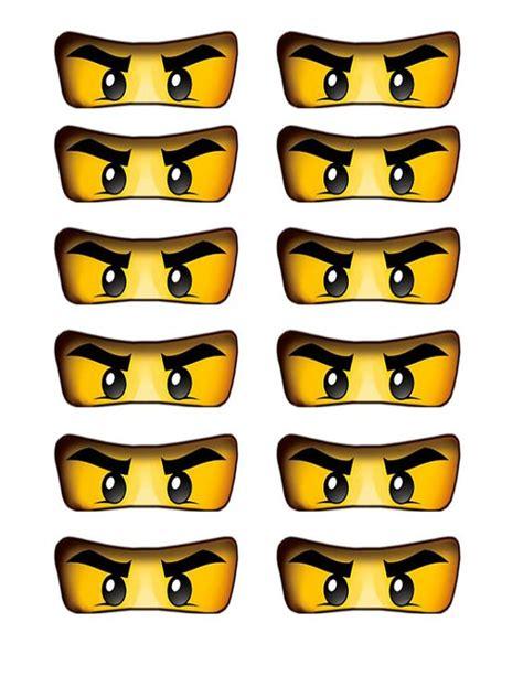lego ninjago eyes cutout for birthday party balloons cake