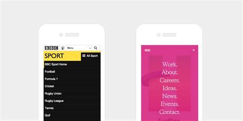 web design menu mobile 15 best practices for responsible responsive web design