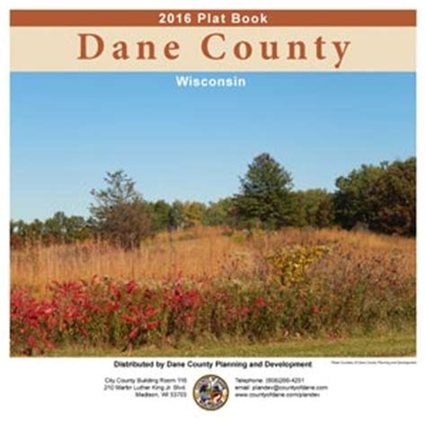 Dane County Records Planning And Development Plat Book Information