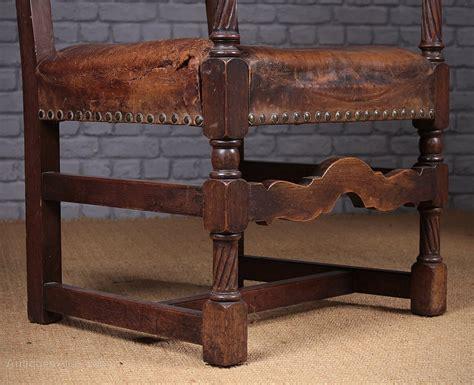 oak armchairs oak leather armchair c 1910 antiques atlas