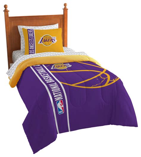 lakers comforter shop houzz the northwest company lakers comforter bed in