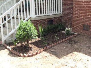 work brick  flower beds