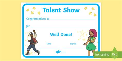 talent show certificate talent show certificate end of year show britain s got