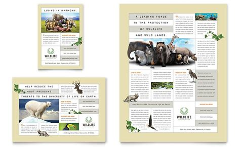 Zoo Brochure Template by Zoo 171 Graphic Design Ideas Inspiration Stocklayouts