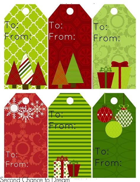 free printable christmas gift tags personalized fun for