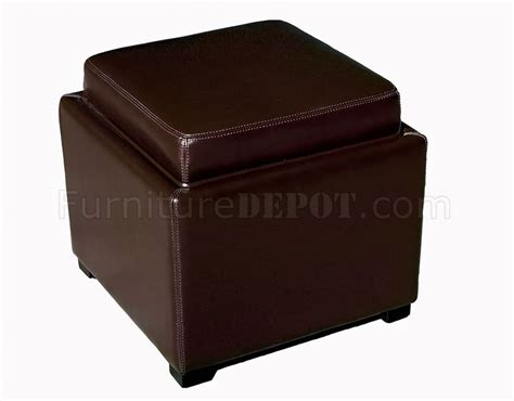 colored leather ottoman dark chocolate color contemporary leather ottoman with storage