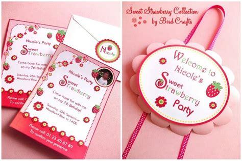 Strawberry Shortcake Baby Shower Theme by Strawberry Printables Strawberry Shortcake Ideas Birthday