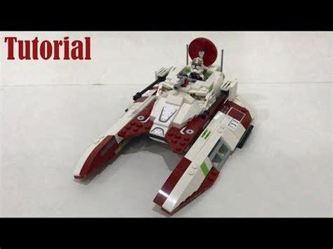 tutorial republic lego star wars republic fighter tank moc tutorial youtube