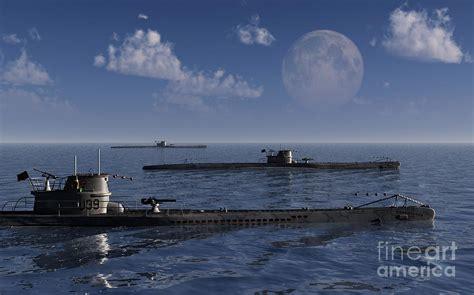 a wolfpack of german u boat submarines digital art by mark - U Boat Wolfpack