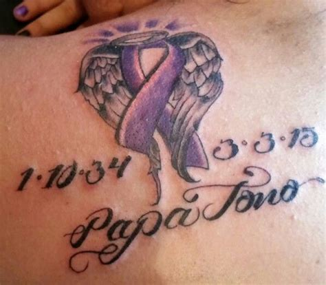 pancreatic cancer ribbon tattoos best 25 pancreatic cancer tattoos ideas on