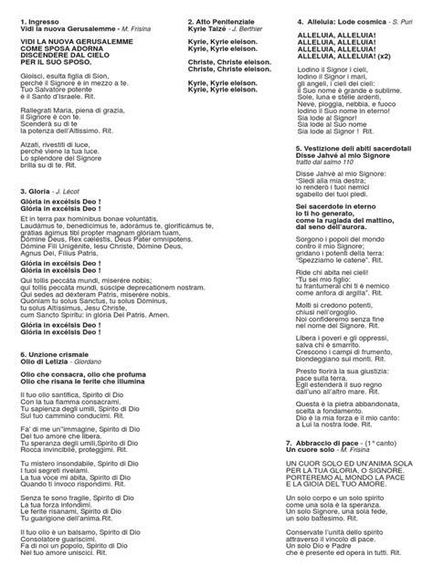 canti liturgici ingresso canti ordinazione presbiterale