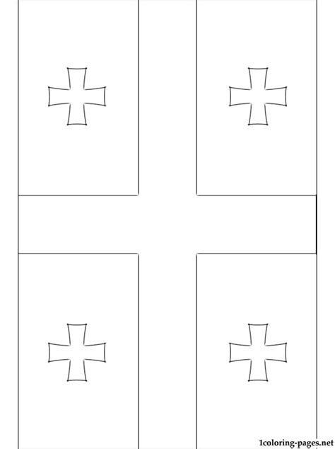 georgia flag coloring page coloring pages