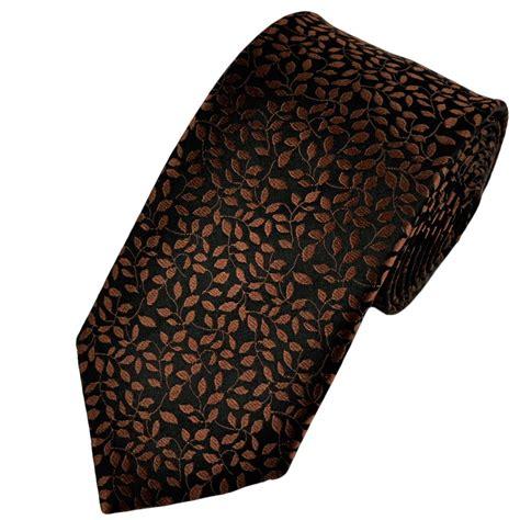 brown pattern tie black chocolate brown floral patterned silk tie from