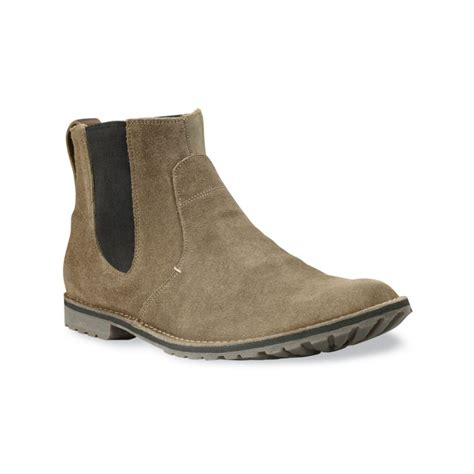 light suede chelsea boots timberland earthkeepers chelsea boots in beige for