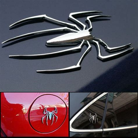 3d Auto Decals by Emblem Silver 3d Car Stickers Auto Decal Spider Shape