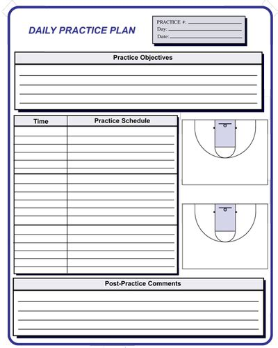 blank basketball practice plans pictures to pin on