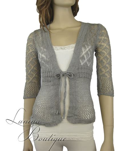 Top Five Cardigans by Crochet Lace Cardigan Sleeved Knit Top Jacket