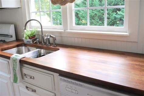 Butcher Block Kitchen Countertop by White Kitchen Cabinets With Butcher Block Countertops