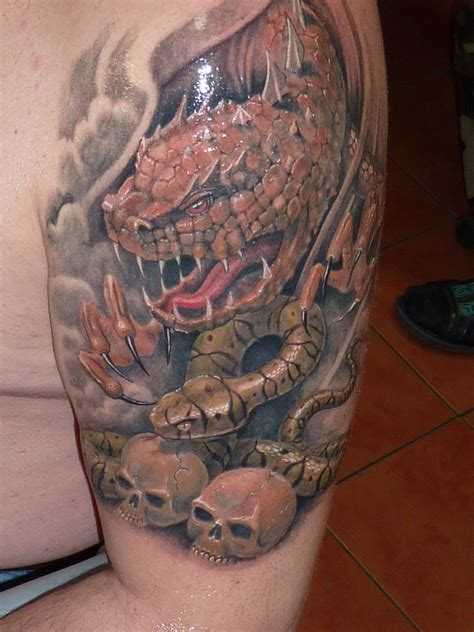 two headed dragon tattoos designs snake www pixshark images galleries