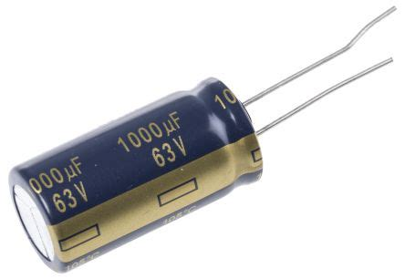 panasonic capacitor ripple current eeufc1j102u panasonic aluminium electrolytic capacitor 1000μf 63v dc 16mm through fc
