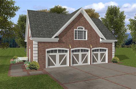 brick garage plans brick 3 car garage with storage above 20053ga cad