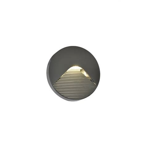 forum lighting breez led round surface mounted outdoor brick wall light in anthracite finish