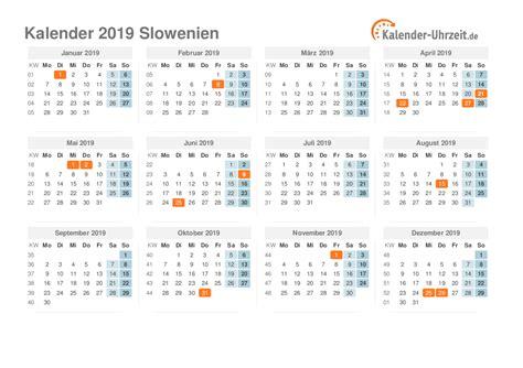 Slovenia Kalender 2018 Feiertage 2019 Slowenien Kalender 220 Bersicht