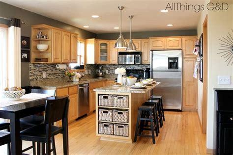 Grey Maple Kitchen Cabinets Gray Kitchen Walls With Maple Cabinets Going Gray Gray Kitchen Www Allthingsgd Home