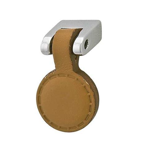 Leather Cabinet Knobs by Hafele Italiana 5 8 Inch Length Polished Chrome