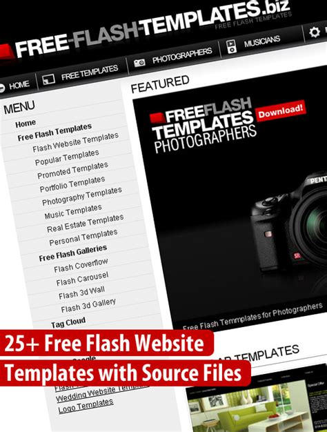 free flash site templates 25 flash website templates dzinepress