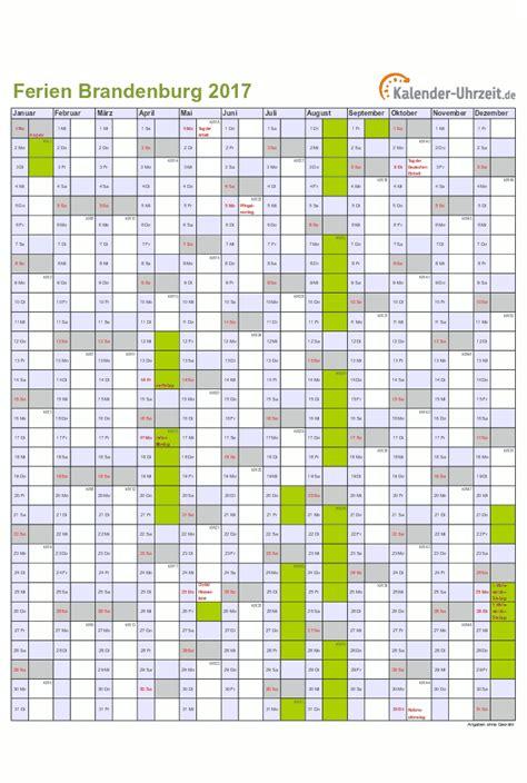 Kalender 2018 Feiertage Und Ferien Brandenburg Kalender 2017 Brandenburg Mit Ferien Als Excel Oder Pdf