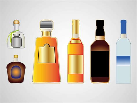 cartoon alcohol bottle liquor bottles vector art graphics freevector com