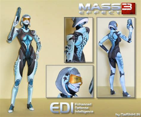 Mass Effect Papercraft - edi papercraft by daishihun on deviantart