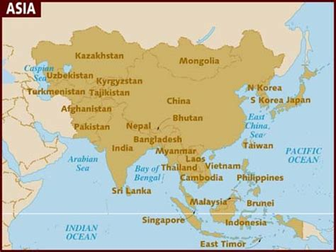 asien map map of asia