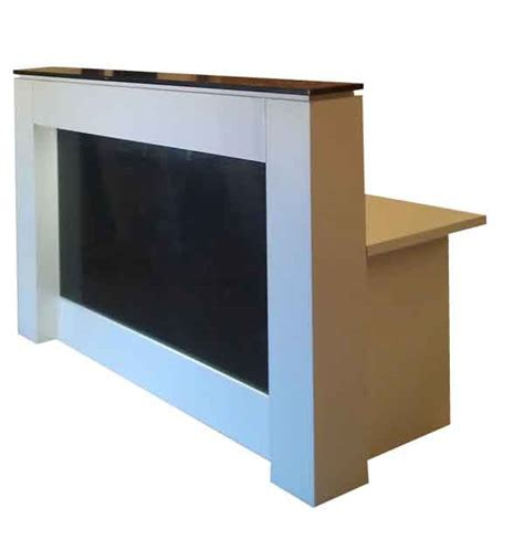 Black And White Reception Desk Or Counter With Light Black And White Desk