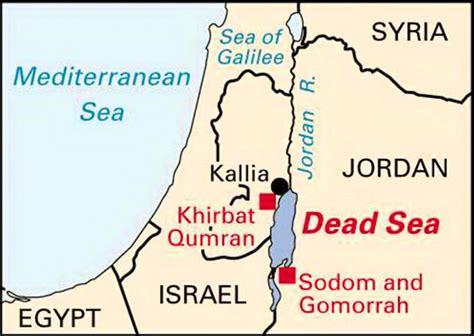 sodom and gomorrah map dead sea scrolls