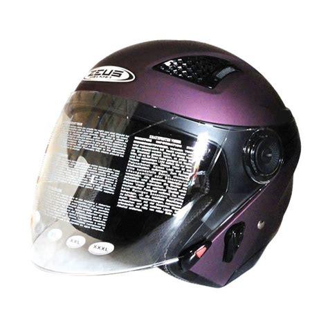 Helm Zeus Retro jual helm zeus retro zs 610 helm half matt purple