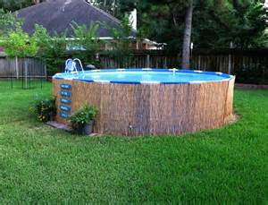 Backyard Ideas With Above Ground Pool Above Ground Pool Landscape Designs Crafty In Crosby Easy Pallet Sign And Above Ground Pool