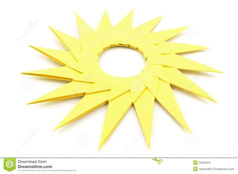 How To Make A Sun With Paper - origami yellow paper sun royalty free stock images image