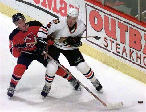 replica white 23 jersey leap p 344 1998 99 eric weinrich chicago blackhawks worn jersey
