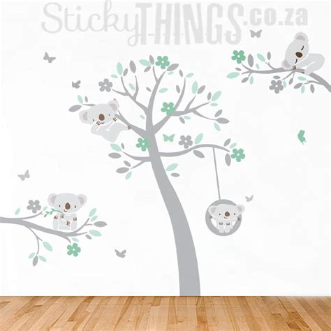 koala trees wall art sticker koala wall decal stickythings co za