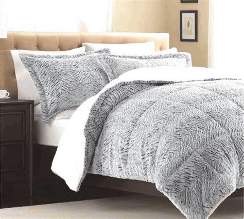 Fur Comforter by Silver White Faux Mink Fur Comforter