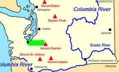 Washington Mountains Map by Washington State Map Quiz Social Studies Flashcards