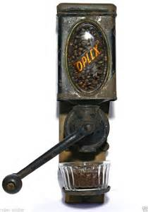 Wall Mounted Coffee Grinder 1899 Oplex Coffee Grinder Tin Litho Wall Mount Can Burr