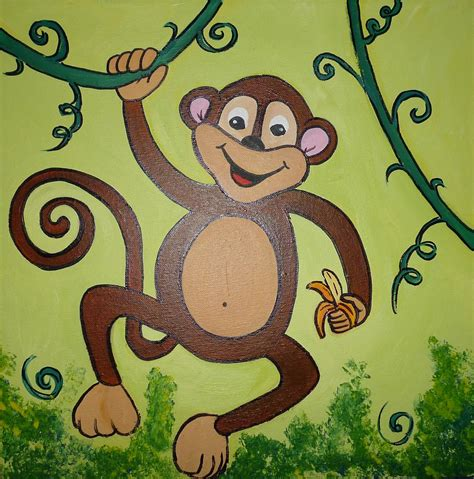 monkey painting monkey painting by iatridou