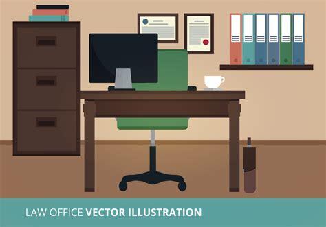 Office Desk Vector Office Vector Illustration Free Vector