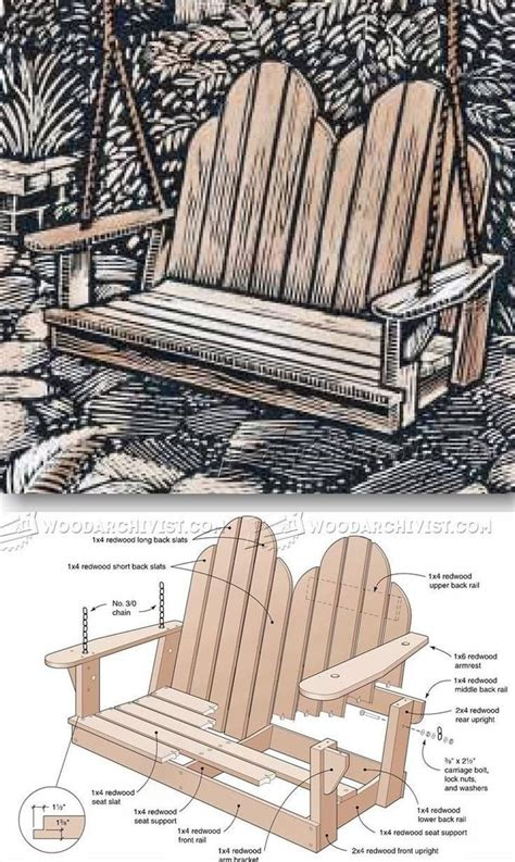 adirondack porch swing plans 1000 images about woodworking projects and plans on